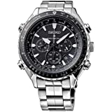 Seiko SSG001P1 - Reloj de pulsera para hombre (cronógrafo, movimiento de cuarzo, acero inoxidable)