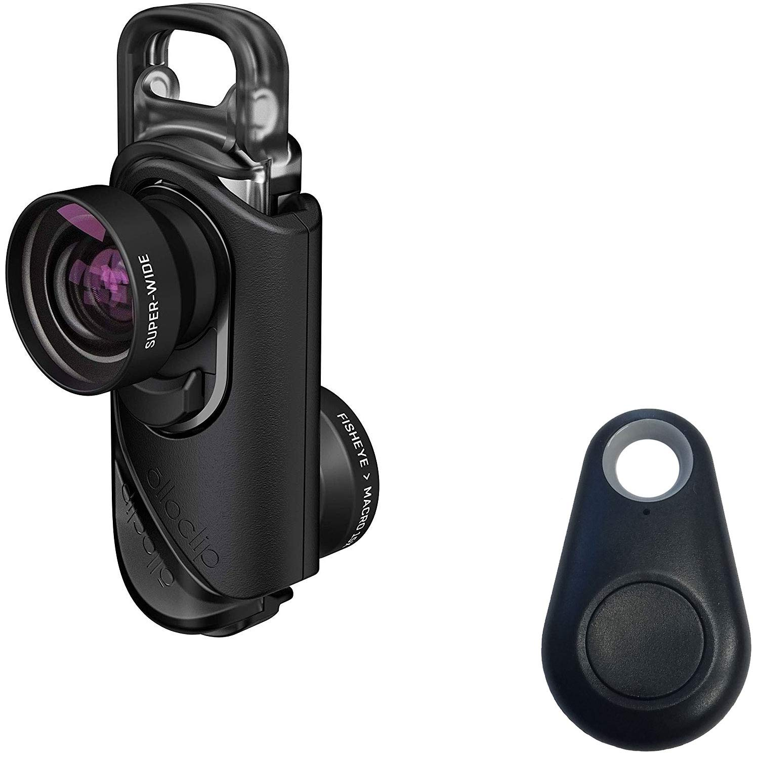olloclip 3-in-1 Lens Kit Includes: Fisheye, Super-Wide and Macro 15x Premium Glass Lenses for iPhone 8/8 Plus & iPhone 7/7 Plus with Selfie Bluetooth Remote Shutter by olloclip