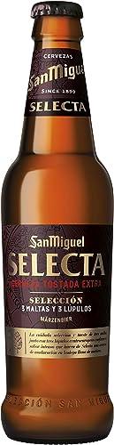 San Miguel – Cerveza San Miguel Selecta Tostada Extra, Botella de 33 cl