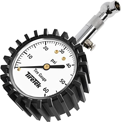 TireTek Premium Car Tire Pressure Gauge 60 PSI - Heavy Duty Tire Gauge ANSI Certified Accurate: Automotive