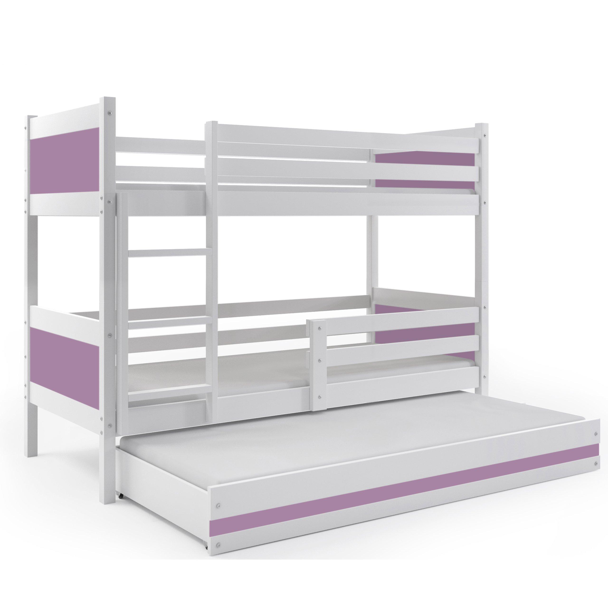 BMS Group LITERA Infantil Triple (3 Camas) 190x80, Color Blanco (LOS Paneles