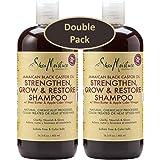Shea Moisture Jamaican Black Castor Oil Strengthen, Grow and Restore 16.3 Ounce Shampoo, W/ Shea Butter and Apple Cider Vinegar, Pack of 2 each