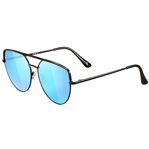 55ba5bf71 Oversized Sunglasses for Women- Feirdio Mirrored Cat Eye Sunglasses Metal  Frame women sunglasses 2269 (