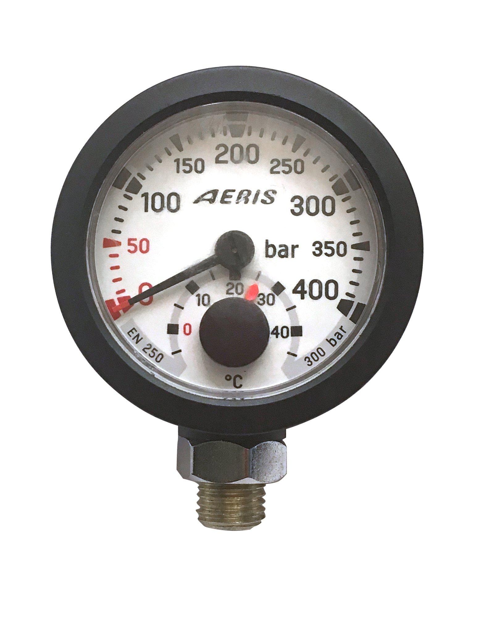 Aeris Metric Standard Submersible Pressure Gauge Module w/ Temperature for Scuba Diving
