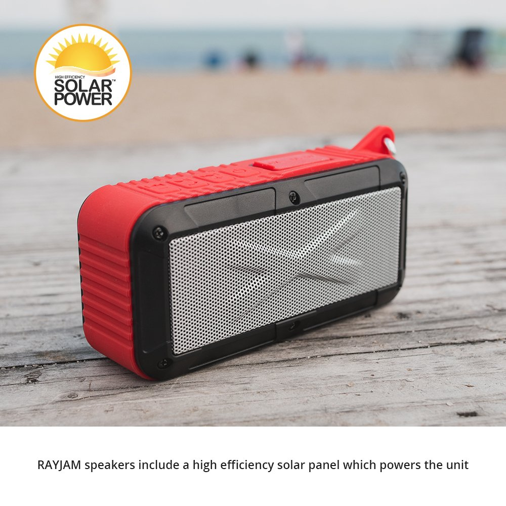 Touch of ECO RayJam Solar Bluetooth Portable Speaker - RED