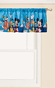 Disney Mickey Mouse Playground Pals Window Valance, Blue