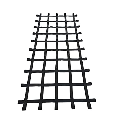 Fong 8 ft X 4 ft Climbing Cargo Net Black (96 inch x 48 inch) - Playground Cargo Net - Climbing Net for Swingset - Indoor Climbing Net - Climbing Ladder: Toys & Games