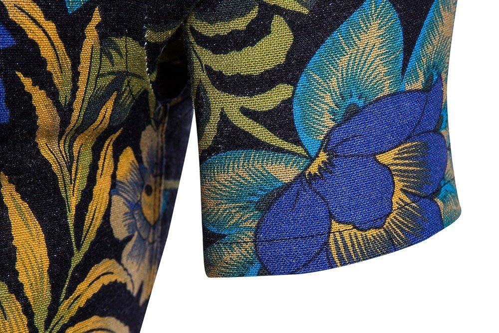 Emerayo Men Plus Size Bohe Floral T Shirt Men Short Sleeve Linen Basic T Shirt Summer Blouse Top