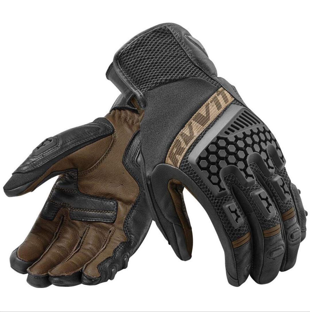 Hake Protective Breathable Glove Motorcycle Cycling Riding Racing Leather Gloves Motocross Touch Screen Brown XL