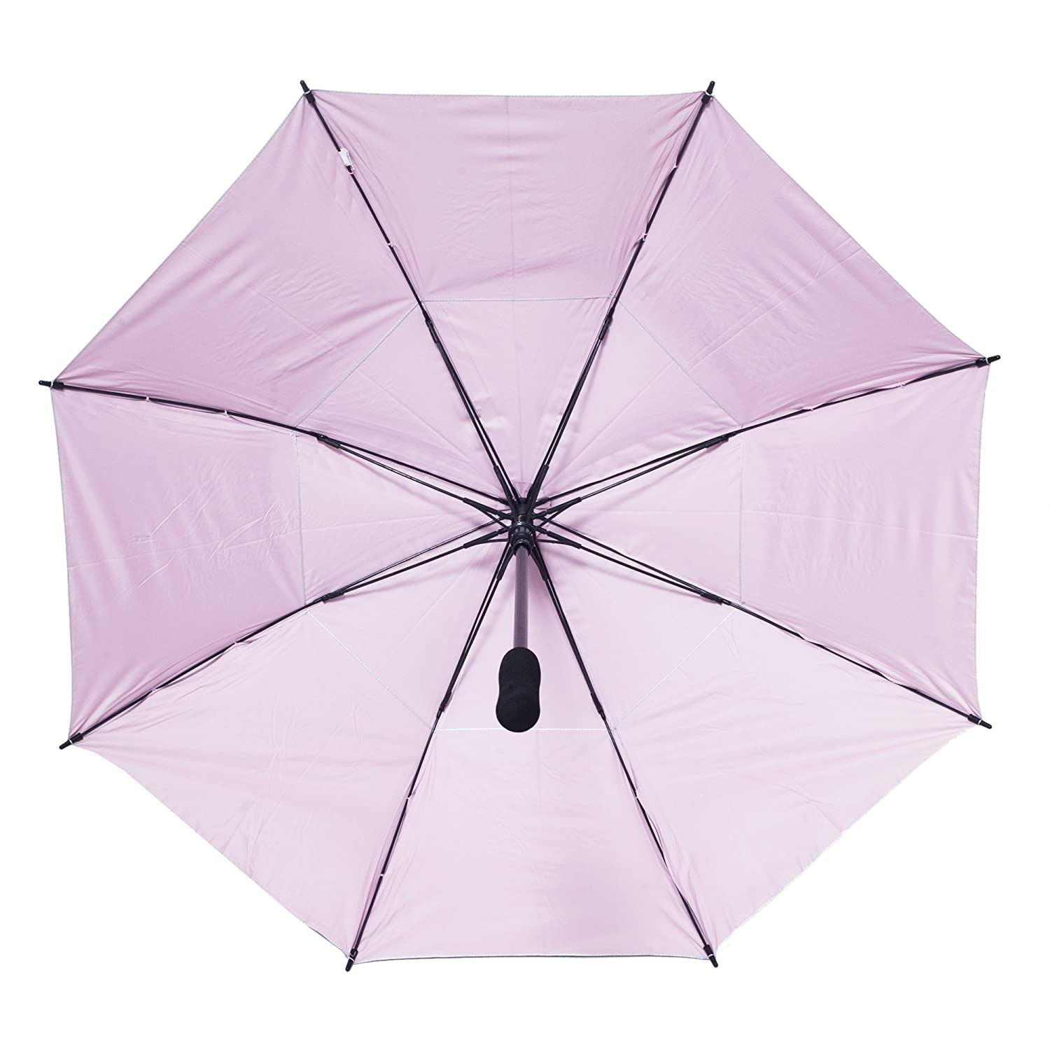 126f00e78942 Pink Lining - Silver Vented Windproof UV Umbrella- 50 inch Arc ...