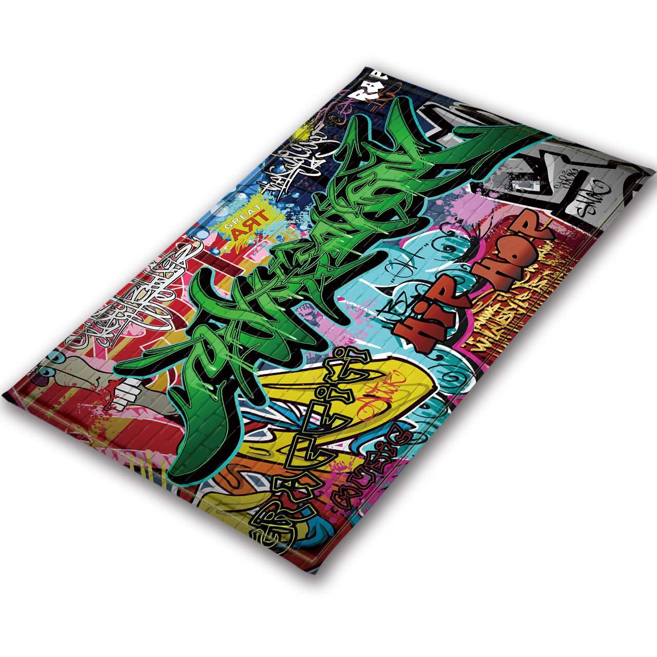 LB Bunte, Graffiti, Area Rug, Wohnzimmer Schlafzimmer Badezimmer Küche Kinder Baby Zimmer weiche Teppich Bodenmatte Home Decor, 120x160cm