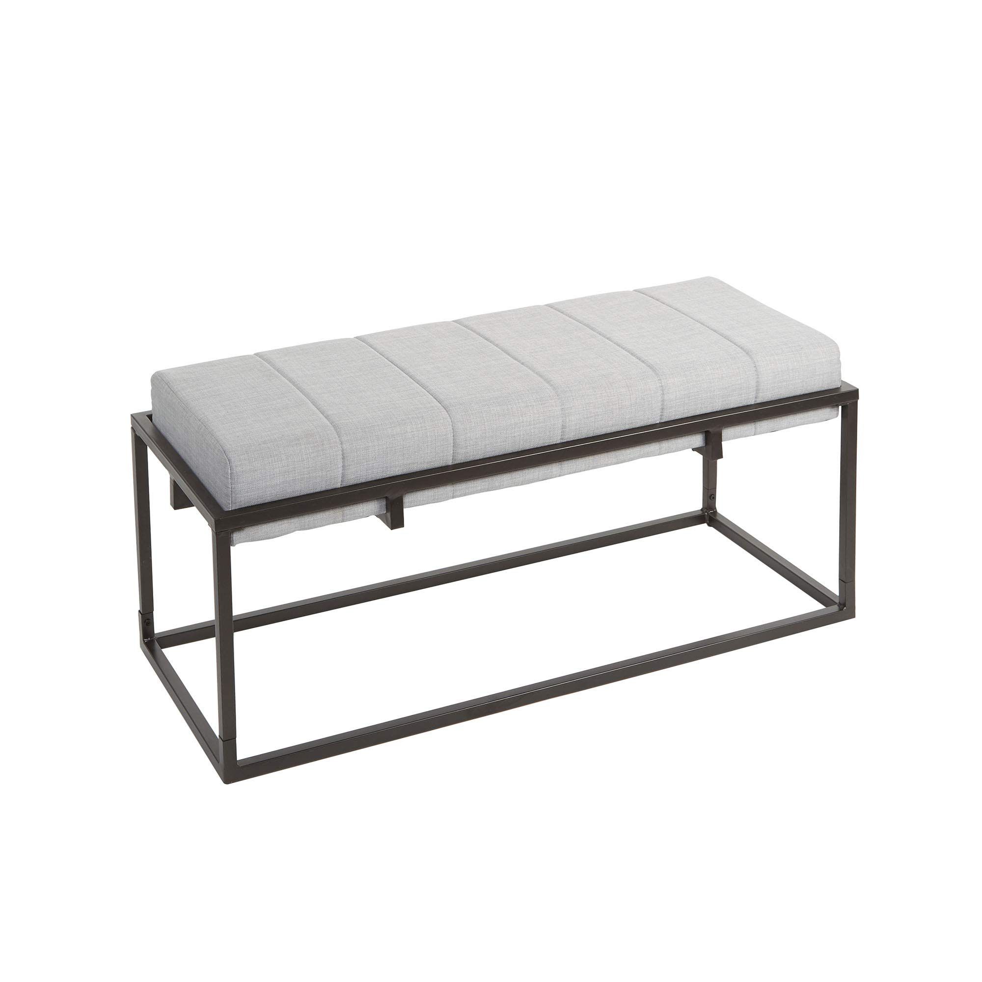 Silverwood Upholstered Bench, Gunmetal by Silverwood