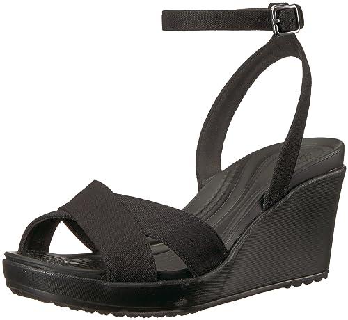570623b52c Amazon.com | Crocs Women's Leigh II Adjustable Ankle Strap Wedge ...