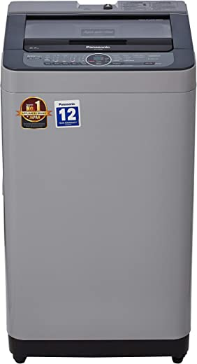 6.7 kg Panasonic Fully-Automatic Top Loading Washing Machine Built-in Heater Active Foam System NA-F67BH8MRB with Water Reuse