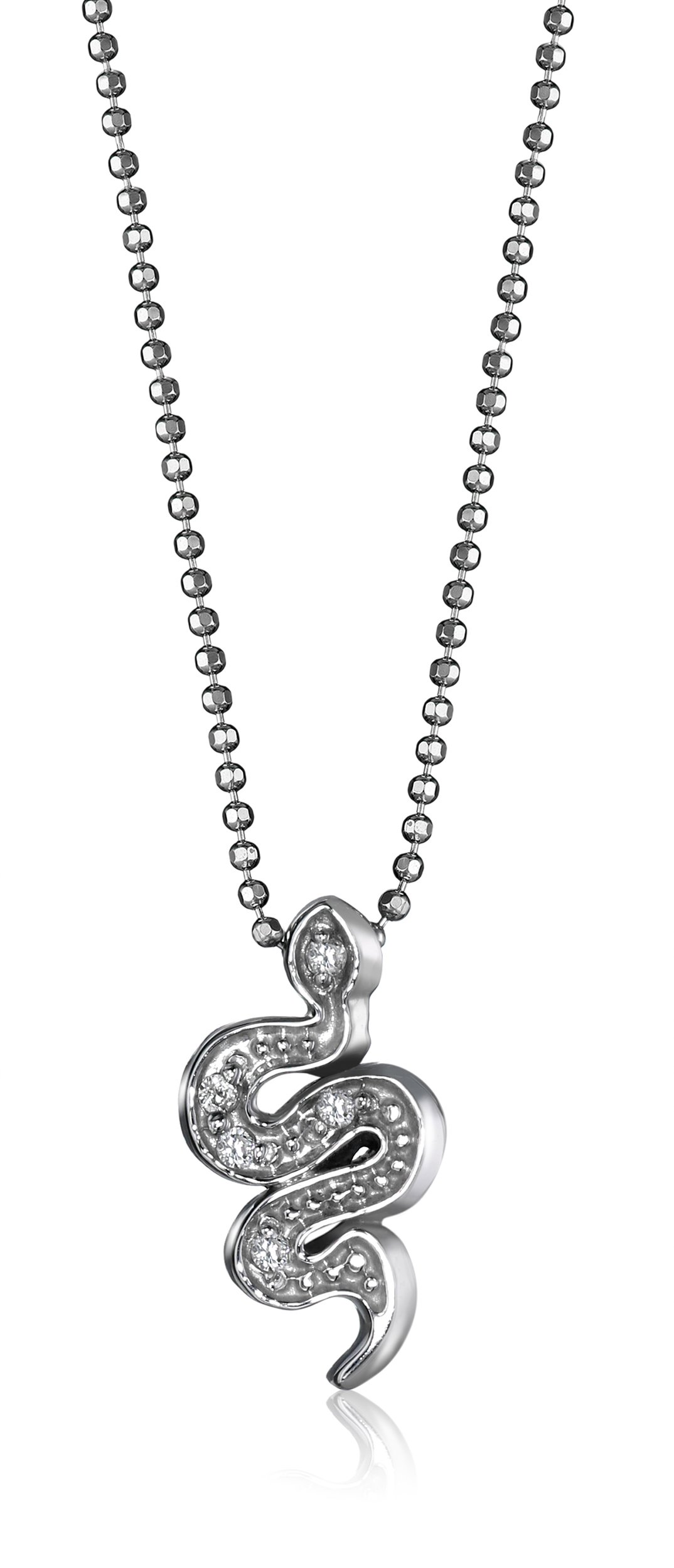 Alex Woo ''Little Signs Animals'' White Snake Pendant Necklace