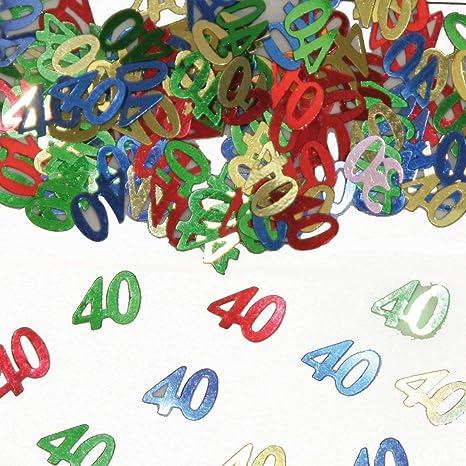 colorido confeti brillante con Número de Cumpleaños: 40 ...