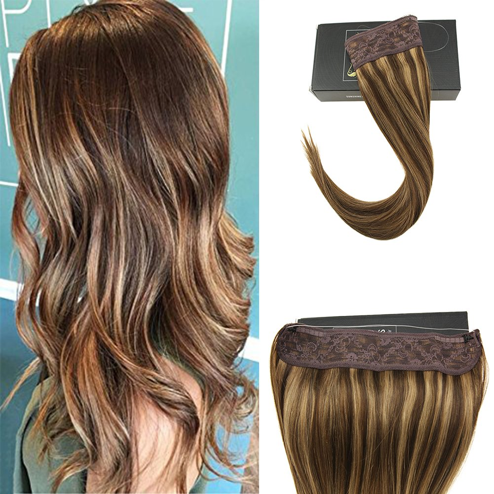Amazon Vesunny 14inch Halo Remy Hair Extensions Human Hair