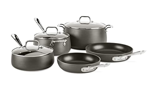 All-Clad-HA1-8-Piece-Hard-Anodized-Set