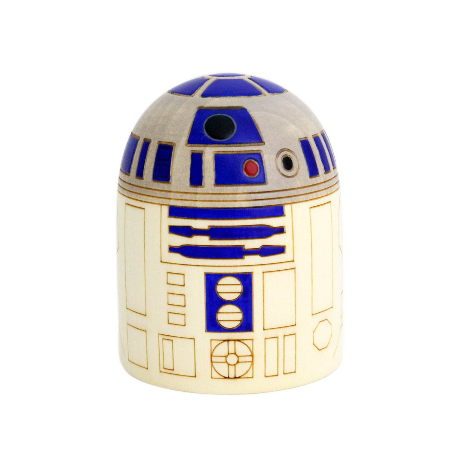 Neutral Corporation Interior/Figurine Object [ Uzaburo Disney Official License Product Star Wars R2-D2 Kokeshi, Clear by Neutral Corporation