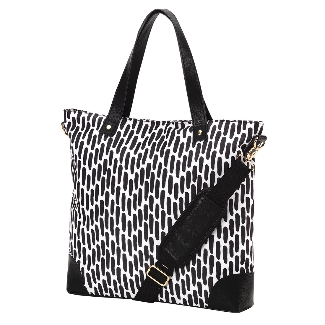 VIV/&LOU Shoulder Tote Bag Faux Leather Trim