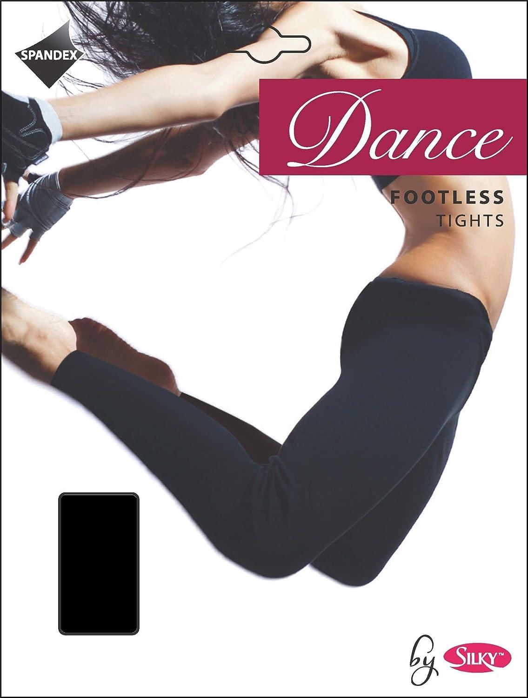 Girls Silky Dance 60 Denier Footless Tights Black