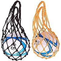 Nlmskzzy Mesh Storage Sports Ball Holder,Upgraded Heavy Duty Ball Mesh Net Nylon Bag for Basketball Football Volleyball…
