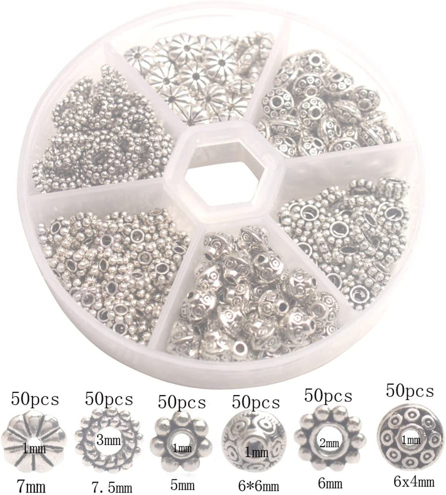 Free Ship 500Pcs Tibetan Silver Spacer Beads For Jewelry Making 6x4mm