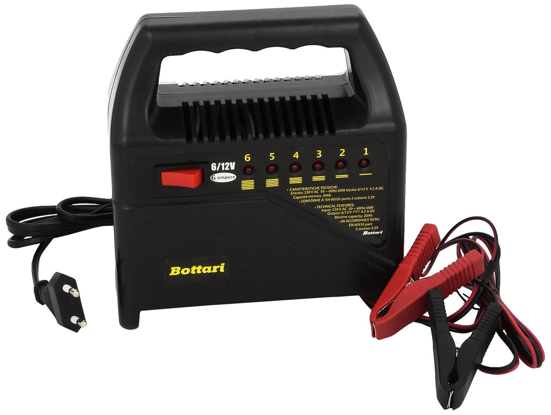 Bottari 28106 Zugelassener Batterieladegerät, 6 Ampere, Gemäß EN 60335-2-29 Bottari s.p.a.