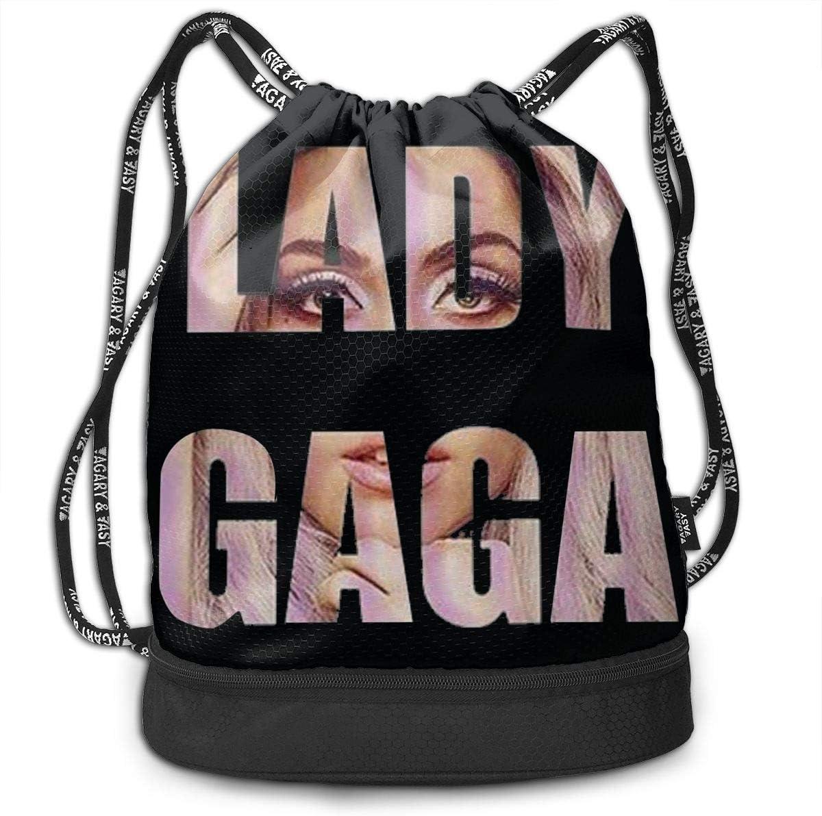 Sacs /à Cordon,Sacs de Sport,Sacs /à Dos Loisir Lady Gaga Love Leisure Tennis Men Women Gym Drawstring Backpacks Shoulder Bags Sport Sack Backpack for Sport Yoga Trip