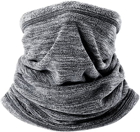 Soft Fleece Neck Gaiter Warmer Face Mask Warmer Circle Scarf Windproof for Cold Weather Winter Outdoor Sports