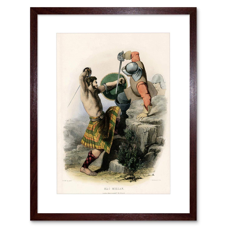 新しいスタイル Painting portraitスコットランドハイランドClan ブラウン Tartan Macmillan Framed Print f12 Print f12 X 4940 12-Inches x 16-Inches ブラウン F12X4940_Dark Oak ブラウン B00XC5IL0G, いいものいっぱい家具屋姫:9991873f --- arianechie.dominiotemporario.com