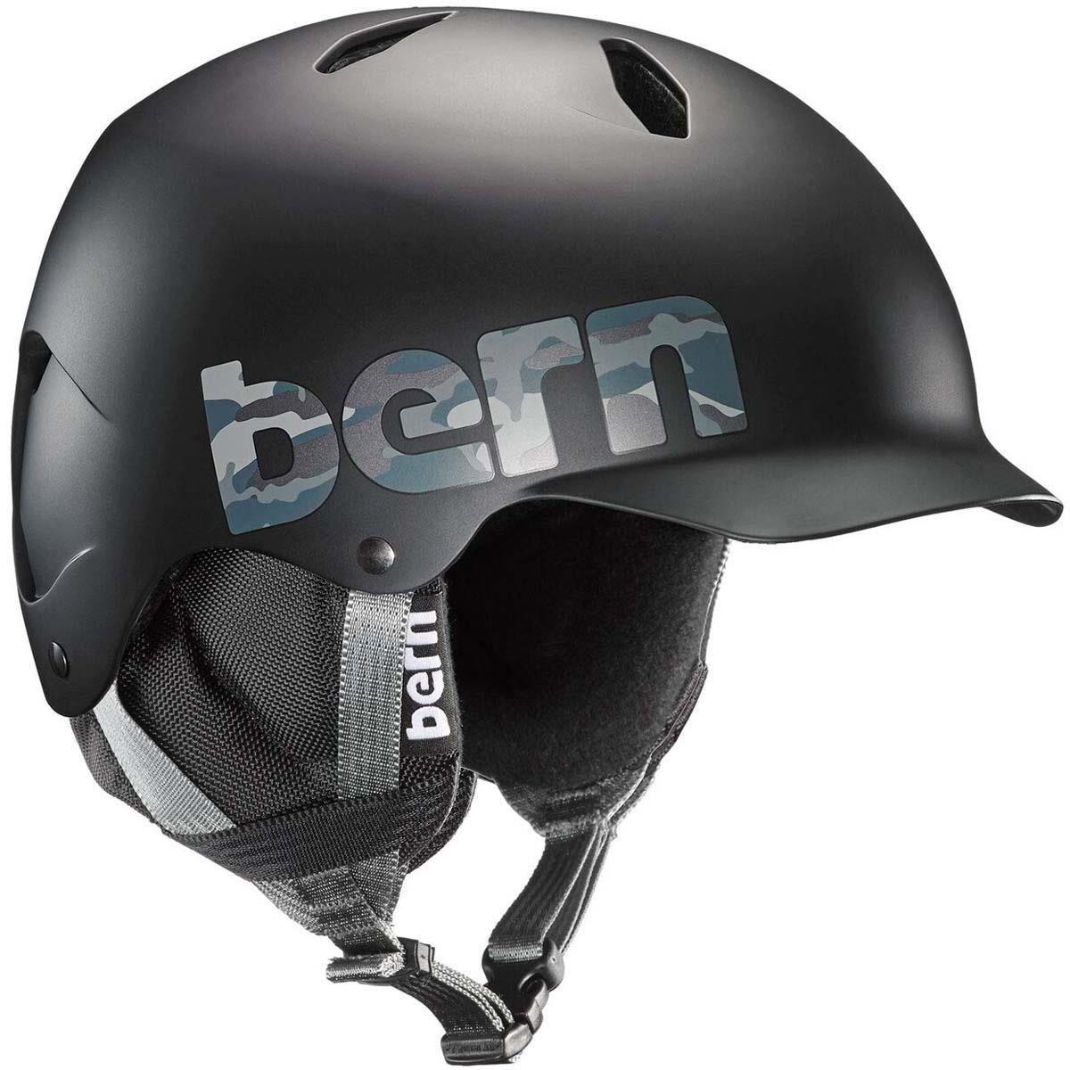 BERN Tween Boys' Bandito Snow Helmet Matte Black Camo S/M