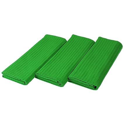 Paños (3 unidades, 100% algodón Suela de pique Uni claro verde 50 x