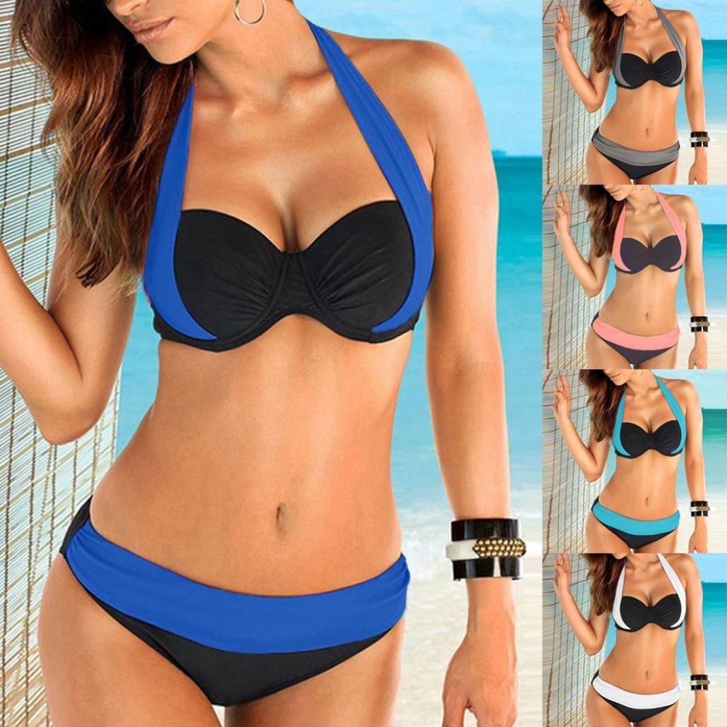 Jaminy Damen Bikini Frauen Push Up Gepolsterten BH Banner Low Taille Bikini Bademode Badeanzug Plus Gr/ö/ße Skinny