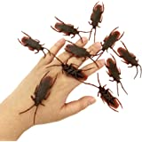 HOHAJIU Fake Roach Pranks for Adults Plastic Cockroaches Gag Gifts (Pack of 48)