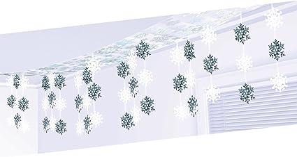 3.65m x 30.5cm Let it Snow Snowflakes Christmas Ceiling Decoration