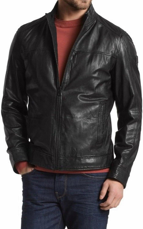 brandMe Mens Genuine Leather Pure Lambskin Biker Jacket MM476