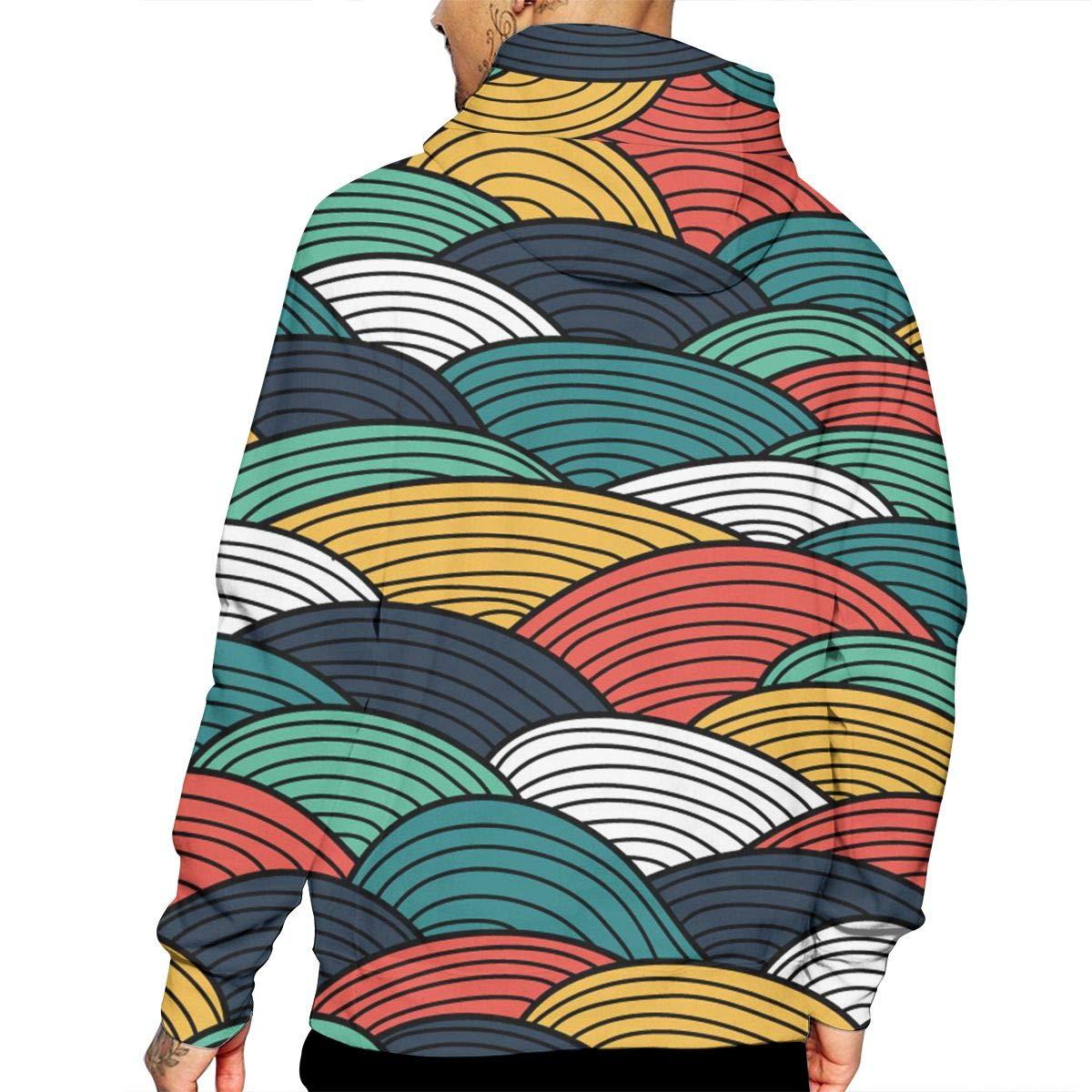 Amazon.com Vintage Spray Print Sweaters With Pockets Hoodie