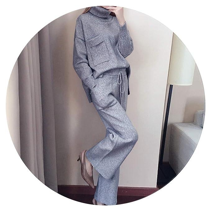 Amazon.com: Conjunto de 2 piezas de pantalones de punto para ...