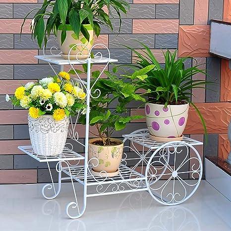 H.yina Plancha de Flores de Hierro Planta de Piso Macetas para Uso en el jardín
