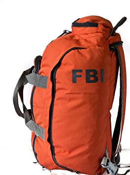 227f201d648ce Fbi 1098Cms Softsided Polyester Orange Gym Duffle Bag  Amazon.in  Bags