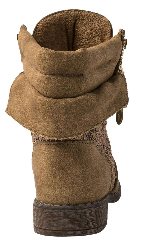 Fermeture /éclair avec talons bloc Worker Boots /à pointe Bottines pour femme Elara