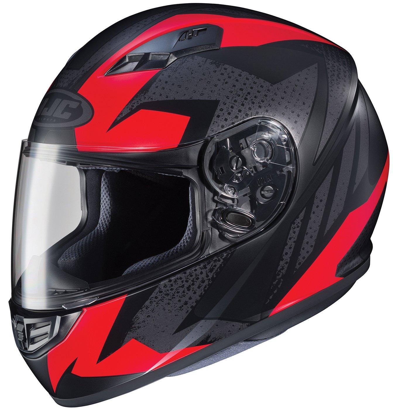 HJC Helmets CS-R3 Unisex-Adult Full Face Treague Motorcycle Helmet (Black/Red, Medium) by HJC Helmets