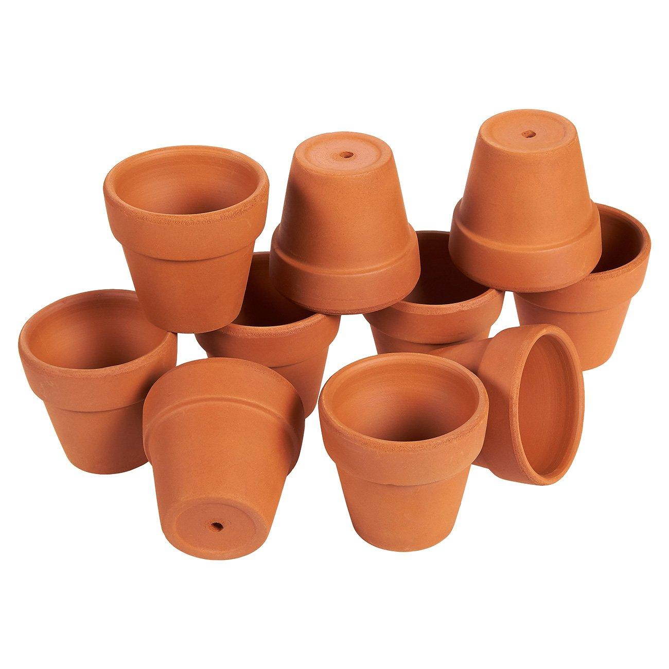 Amazon Set Of 10 Terra Cotta Pots Clay Flower Pots Mini