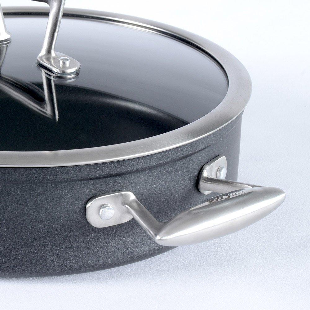 ProCook Elite Forged Sartén con tapa con revestimiento antiadherente, apta para inducción, 2 partes negro: Amazon.es: Hogar