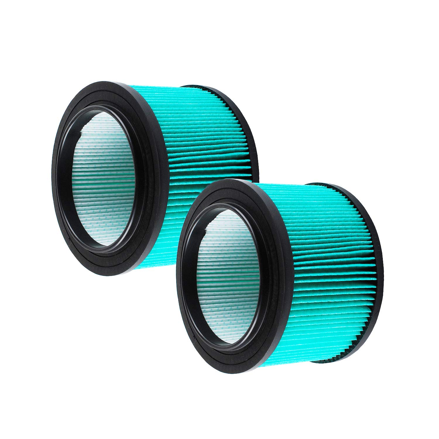 17810 Filter Replacement For Craftsman Shop Vac 917810, Wet Dry Vacuum Filter Fits 3 & 4 Gallon, More features, Upgraded Version Shop Vac Vacuum Filter(Equivalent to 16950)(2 Pack) (green)