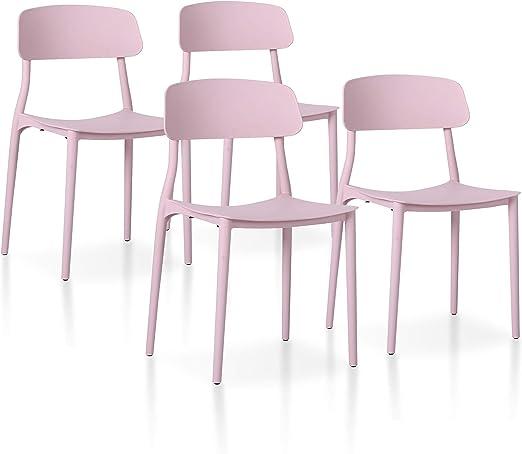 SuenosZzz - Pack sillas (x4) Toy Color Rosa, para Comedor o Cocina ...