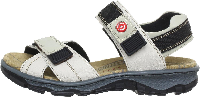Rieker 665H1 Women Twin Strap Heel Leather Matt Sandal In Mustard Size UK 3-8