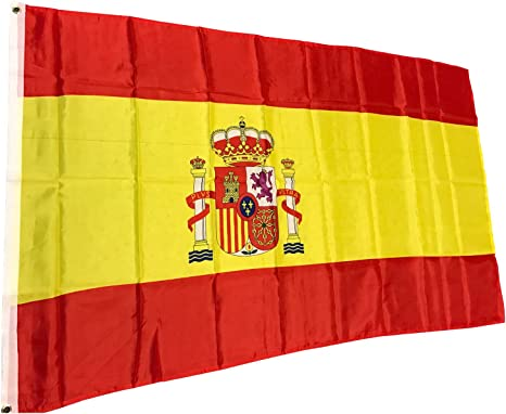 Bandera de España Bandera de España 150 x 90 cm: Amazon.es: Deportes y aire libre