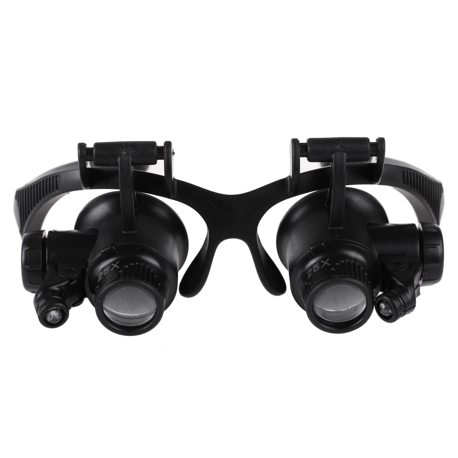 Jewelers New Glasses Magnifier Head Glass Loupe With Led